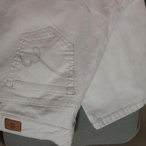Bandolino Mandie White Denim Jeans. Size 14